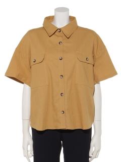 半袖短丈無地シャツ
