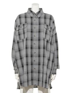 T/RチェックチュニックBIGシャツ
