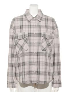 T/RチェックBIGシャツ