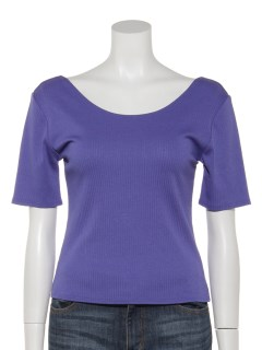 バック深Uネックシャツ半袖