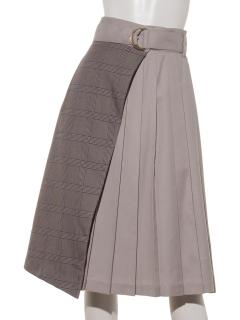 a-ベルト付プリーツラップスカート