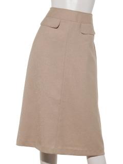 a-フラップ付きAラインスカート