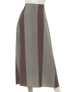 マルチ小紋柄ロングスカート