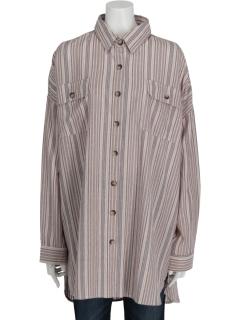 A-マルチストライプチュニックBIGシャツ