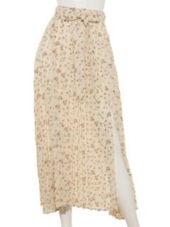 スリットプリーツロングスカート