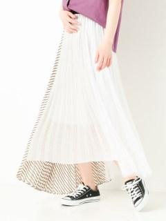 MIXプリーツフレアスカート