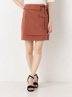 ワークポケットラップ風スカート