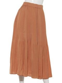 E-微光沢ケシプリーツスカート