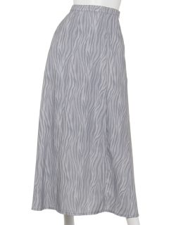 ゼブラ柄デザインヘムスカート