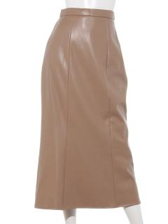 フェイクレザーマーメイドスカート
