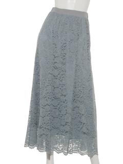 a-レーシーマーメイドフレアスカート
