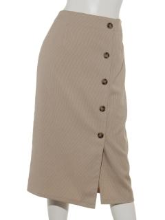 ラップボタンチェックタイトスカート