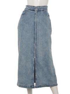 デニムフープジップスカート