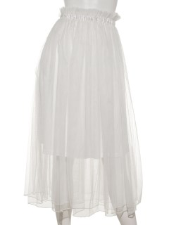チュールサテンリボンスカート