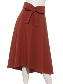 a-共リボンフレアースカート