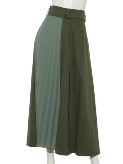 ツイル×シフォンラップスカート