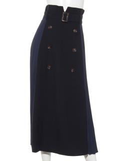 シフォンプリーツトレンチスカート