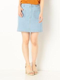 Wポケットデニムタイトスカート