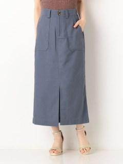 綿麻ベイカーロングスカート