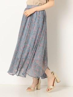 花柄シフォンスカート