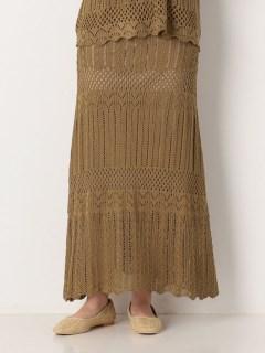 かぎ針スカラップスカート