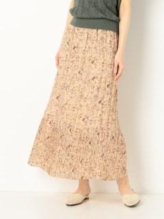 花柄ワッシャープリーツスカート