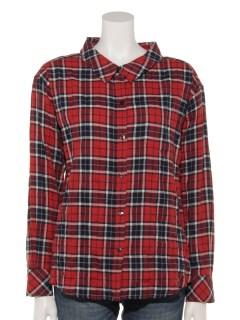 ヘリンボンチェック2WAYシャツ