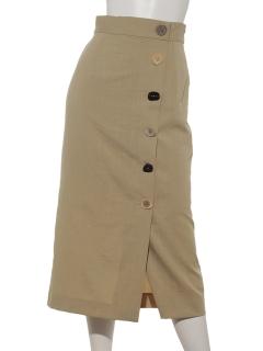 多ボタンスカート