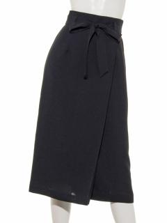 共リボンカタヒダロングタイトスカート