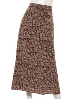 更紗柄セミフレアスカート