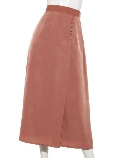 クルミボタン付きAラインスカート