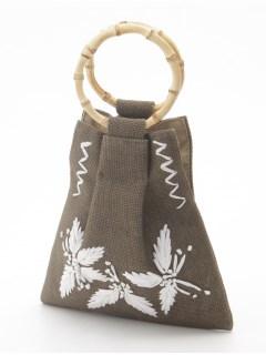 刺繍ジュートミニバッグ