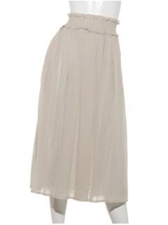 シャーリングフレアースカート