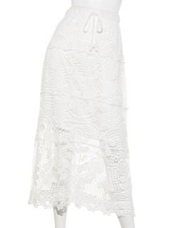 かぎ針レーシーマキシスカート