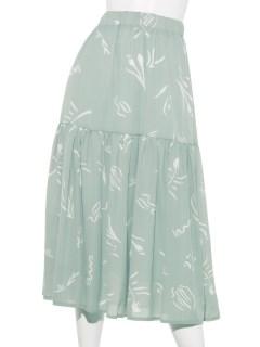花柄デシンティアードスカート