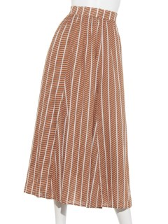 綾ストライププリントスカート