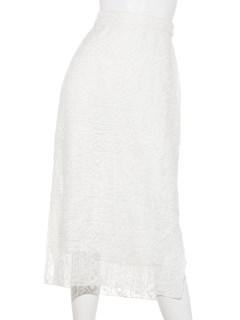 かぎ針総レースタイトスカート