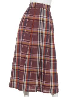 チェック前ボックススカート