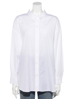 100/2ブロード無地・ストライプBIGシャツ