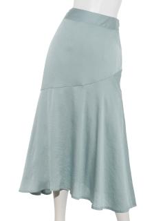 サテンマーメイドロングスカート