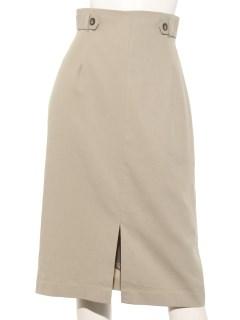タブ付ロングタイトスカート