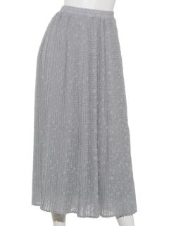 ドットジャガードプリーツスカート