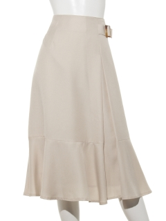 サイドバックルペプラムスカート