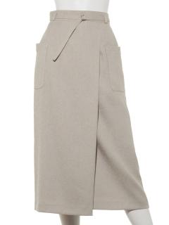 サイドポケットラップタイトスカート