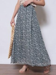 花柄ギャザーマキシスカート