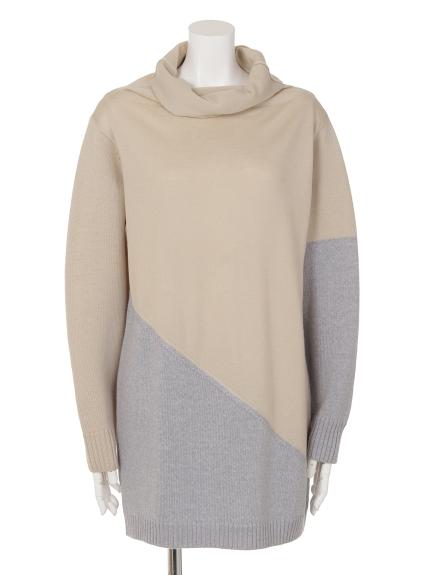 77%OFF VALKURE (ヴァルクーレ) コンビ色セーター ベージュ系