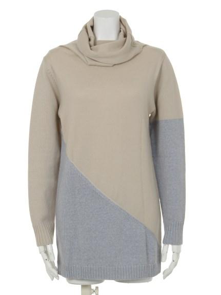 VALKURE (ヴァルクーレ) コンビ色セーター ベージュ系