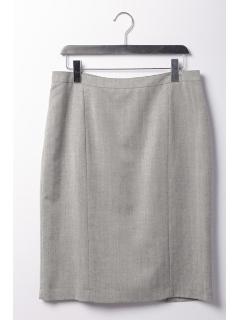 杢ヘリンボーンタイトスカート