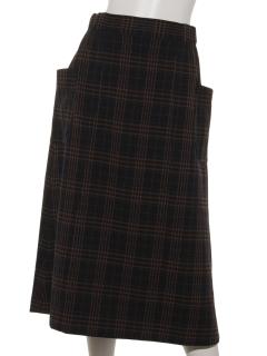 【HONEY CHURCH】チェックサイドポケットスカート