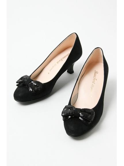 BeauFort (ビューフォート) 【BeauFort elegance】リボン付パンプス ブラック